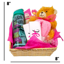 Load image into Gallery viewer, Breast Cancer Awareness Gift Basket with Plush Teddy Bear and Treats