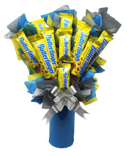 Load image into Gallery viewer, Butterfinger Candy Bouquet Front 1