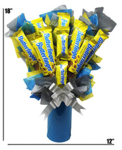 Load image into Gallery viewer, Butterfinger Candy Bouquet dimensions