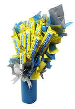 Load image into Gallery viewer, Butterfinger Candy Bouquet side 1