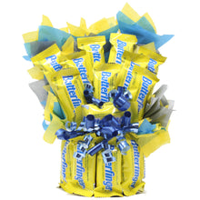 Load image into Gallery viewer, Butterfinger Fun Size Bouquet Front