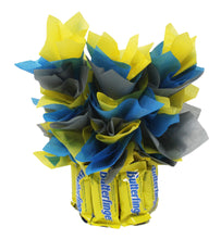 Load image into Gallery viewer, Butterfingers Candy Bouquet Fun Sized image showing back view of arrangement
