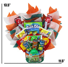 Load image into Gallery viewer, Candy Bouquet for Boys dimensions