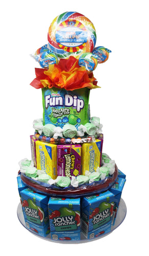 Candy Cake made with Popular Name Brand Sweet Treats front