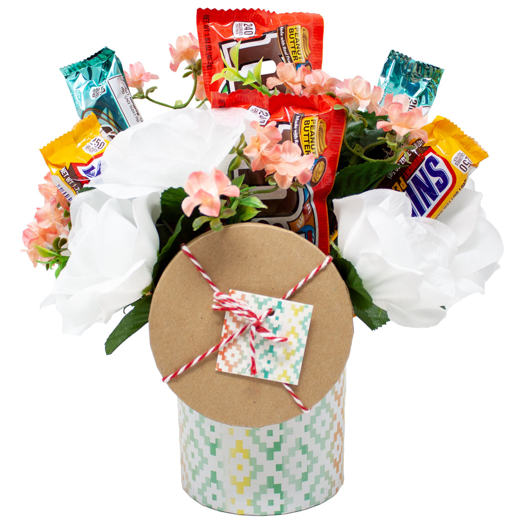 Candy & Floral Gift Box Bouquet