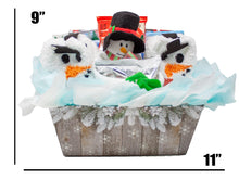 Load image into Gallery viewer, Cozy and Sweet Snowman Retreat Holiday Gift Dimenstions