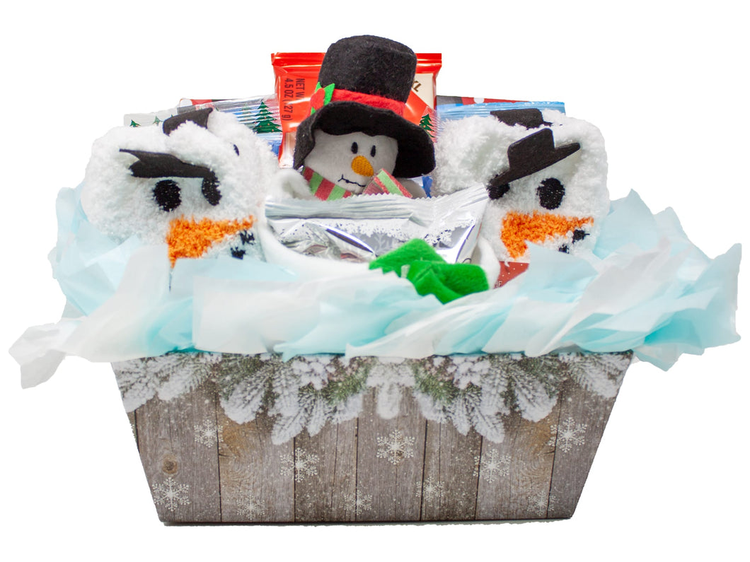 Cozy and Sweet Snowman Retreat Holiday Gift Front