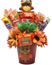 Load image into Gallery viewer, Curious Owl Candy Bouquet Front