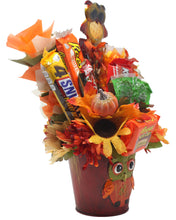 Load image into Gallery viewer, Curious Owl Candy Bouquet Side Alternative