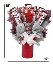 Load image into Gallery viewer, Dark Chocolate Lovers Candy Bouquet Dimensions