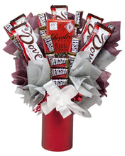 Load image into Gallery viewer, Dark Chocolate Lovers Candy Bouquet Front