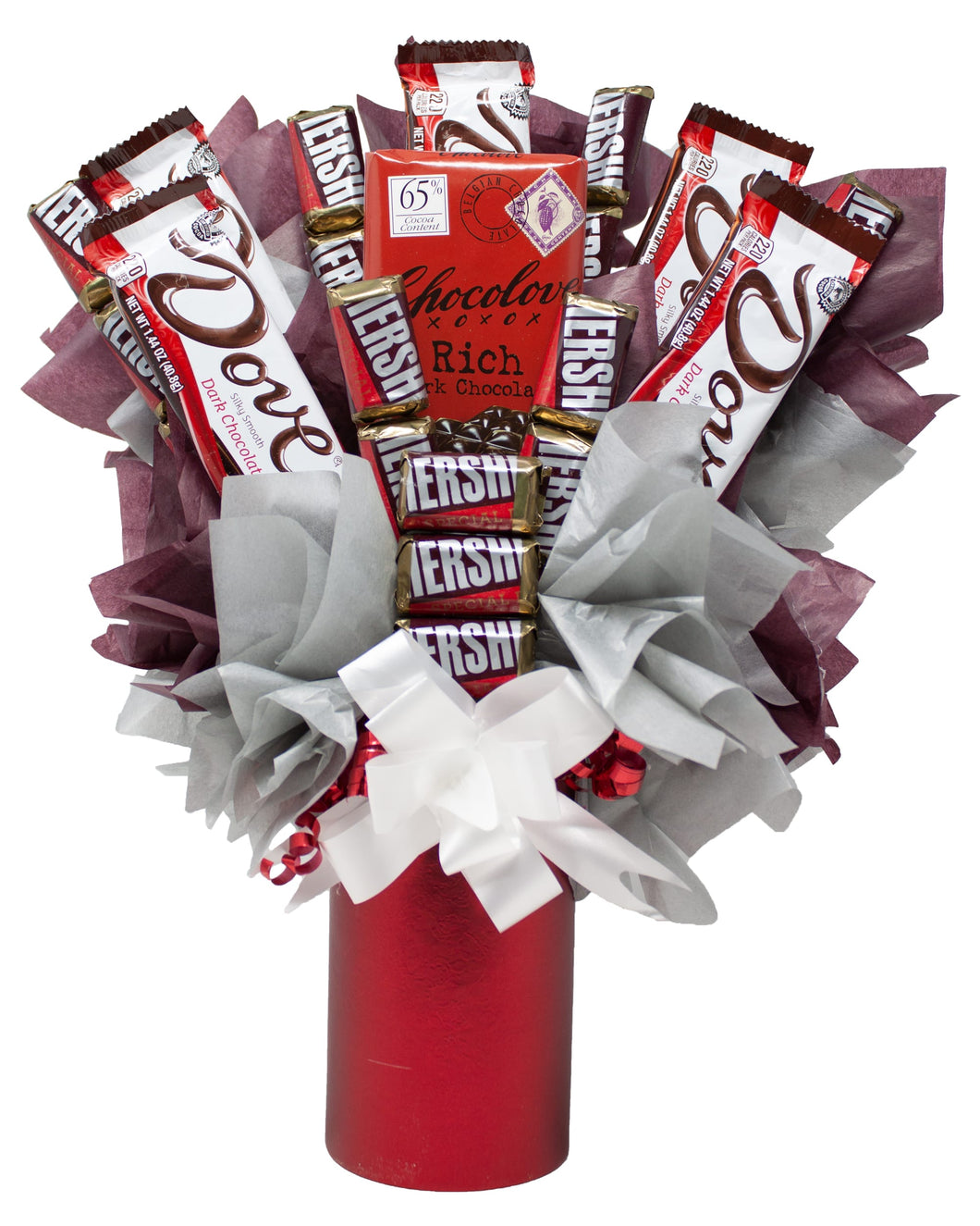 Dark Chocolate Lovers Candy Bouquet Front