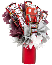 Load image into Gallery viewer, Dark Chocolate Lovers Candy Bouquet Side Alternative