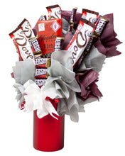 Load image into Gallery viewer, Dark Chocolate Lovers Candy Bouquet Side