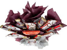 Load image into Gallery viewer, Dark Chocolate Lovers Candy Bouquet Top