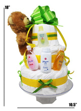 Load image into Gallery viewer, Diaper Cake for Boys Girls dimensions