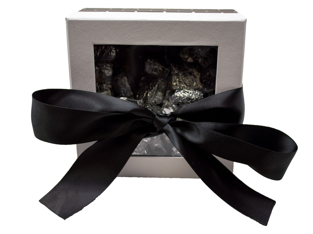 Elegant Black Window Box of Chocolates Front