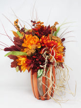 Load image into Gallery viewer, Fall Pumpkin Bouquet Side