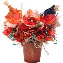 Load image into Gallery viewer, Fall Scarecrow Candy Bouquet Back
