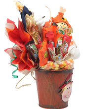 Load image into Gallery viewer, Fall Scarecrow Candy Bouquet Side Alternative