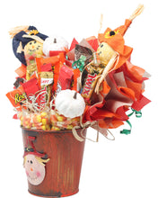 Load image into Gallery viewer, Fall Scarecrow Candy Bouquet Side