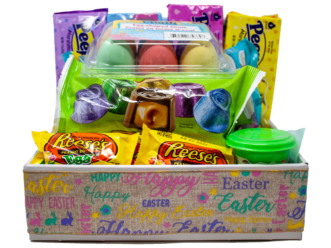 Family Easter Basket Jam Packed with Games, Toys and Sweets