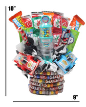 Load image into Gallery viewer, Formula 1 Race Car Candy Bouquet Dimensions