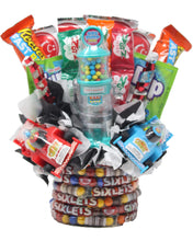 Load image into Gallery viewer, Formula 1 Race Car Candy Bouquet Front