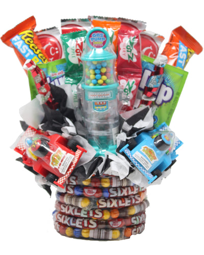 Formula 1 Race Car Candy Bouquet Front