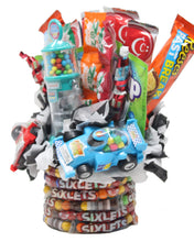 Load image into Gallery viewer, Formula 1 Race Car Candy Bouquet Side