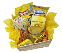 Load image into Gallery viewer, Get Well Soon Yellow Themed Sunshine Basket Empathy Gift Relax and Unwind Grocery Gourmet ...2