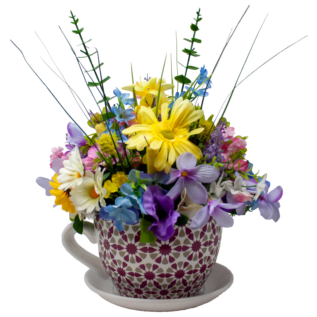 Giant Teacup Floral Arrangement