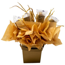Load image into Gallery viewer, Golden Chocolates Candy Bouquet Back