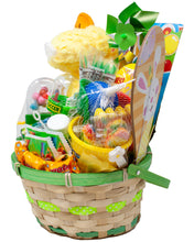 Load image into Gallery viewer, Pre-Made Green Pastel Easter Basket for Boys and Girls