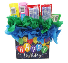 Load image into Gallery viewer, Happy Birthday Balloons Candy Gift Box Slam Dunk back view