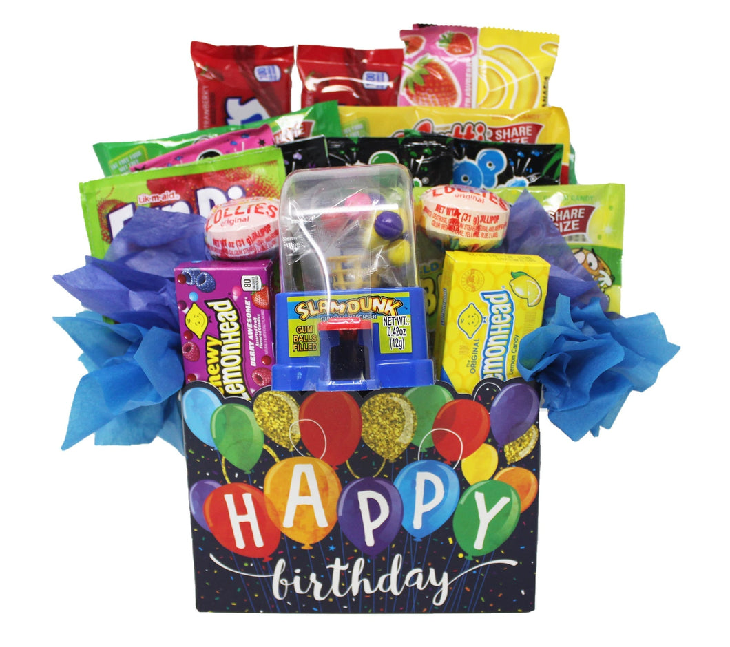 Happy Birthday Balloons Candy Gift Box Slam Dunk front view