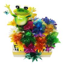 Load image into Gallery viewer, Happy Frog Garden w Prem Chocolates disquised as flowers top