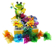 Load image into Gallery viewer, Happy Frog Garden w Prem Chocolates disquised as flowers with chocolates removed