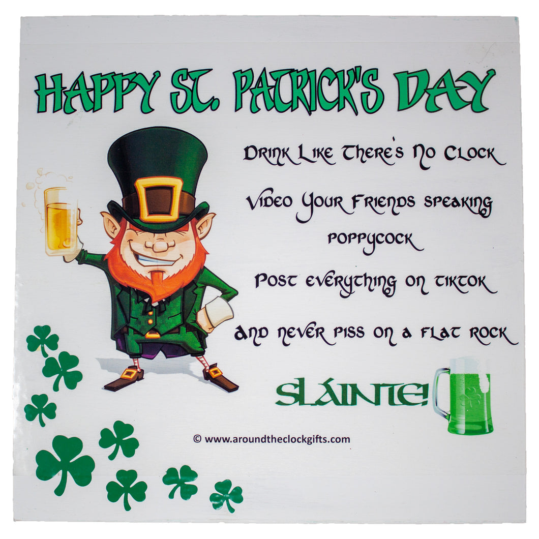 Happy St. Patrick's Day Toast Wall, Door or Shelf Decoration
