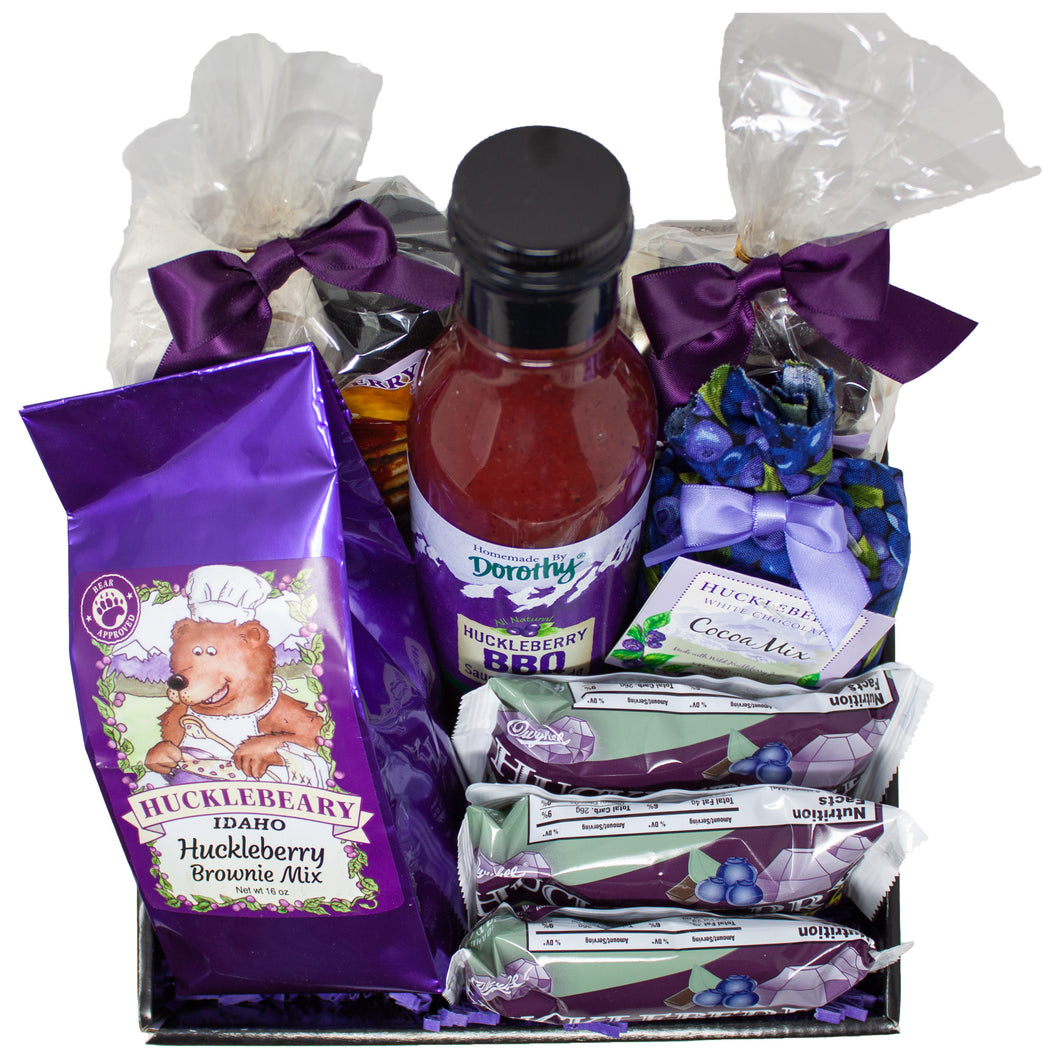 Huckleberry Specialty Food Gift Basket Made in Idaho | Unique Family Gifts