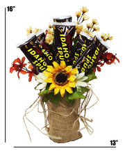 Load image into Gallery viewer, Idaho Spud Candy Bouquet dimensions