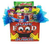 Load image into Gallery viewer, Edible Gift Junk Food Junkie Gift Box front