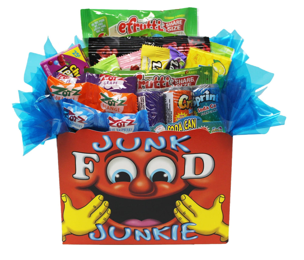 Edible Gift Junk Food Junkie Gift Box front