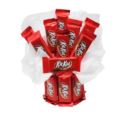 Kit Kat Fun Sized Candy Bouquet front