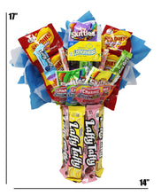 "Load image into Gallery viewer, Candy Bouquet with Laffy Taffy Base Dimensions 17"" x 14"""