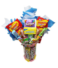 Load image into Gallery viewer, Candy Bouquet with Laffy Taffy Base Top View
