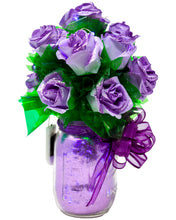 Load image into Gallery viewer, Lavender Paper Rose Bouquet with Glitter & Fairy Lights