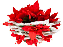 Load image into Gallery viewer, M&M Candy Cane Arrangement with Faux Poinsettias