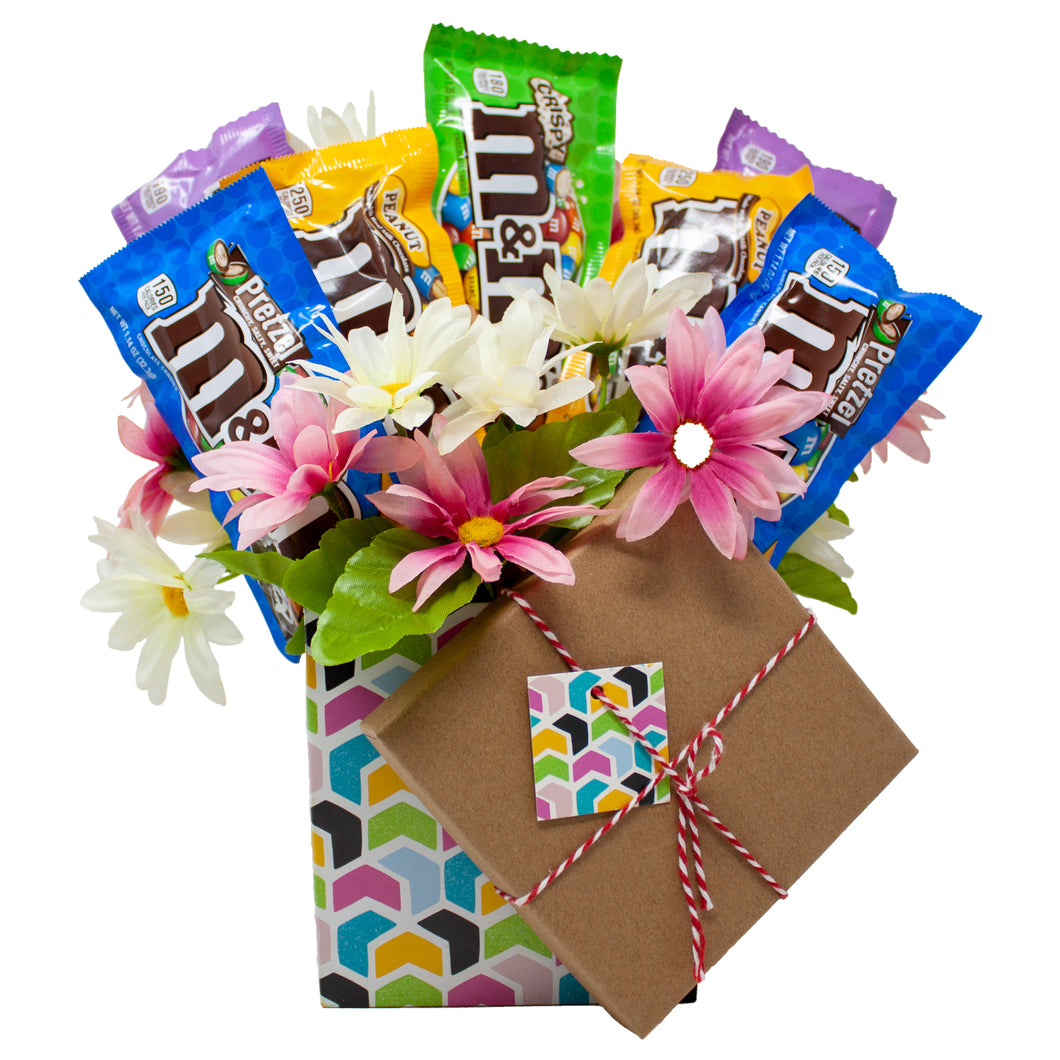 M&M Floral Gift Box Bouquet