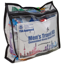 Load image into Gallery viewer, Travel Size Men's Toiletry Kit TSA Approved
